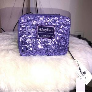 Loungefly DisneyPark wallet purple sequined